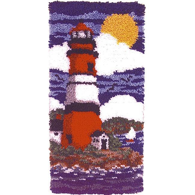 Wonderart Lighthouse Latch Hook Rug Kit