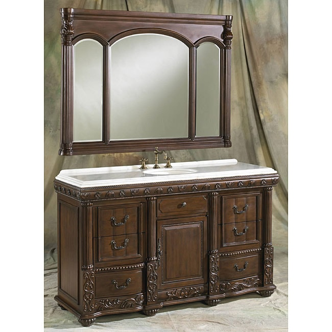 ica furniture lancaster bathroom vanity and mirror 11414922