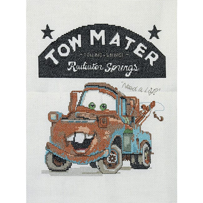 Disney Pixar Cars Tow Mater Counted Cross Stitch Kit
