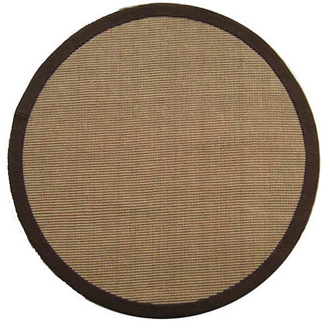 Hand-woven Sisal Choco Brown Jute Rug (6' Round)