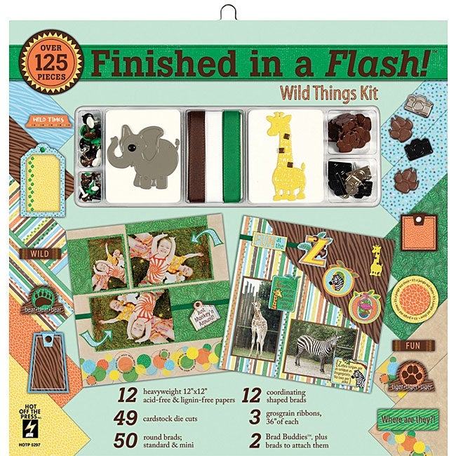 Finished in A Flash 12x12-inch Wild Things Page Kit