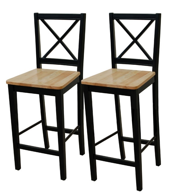 Simple Living Virginia 30-inch Cross-back Stools (Set of 2)