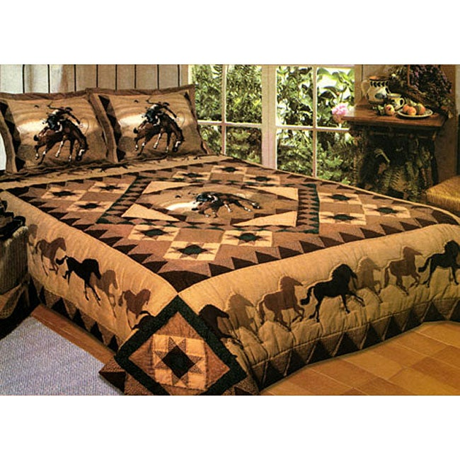 Country Cowboy 3-piece Quilt Set