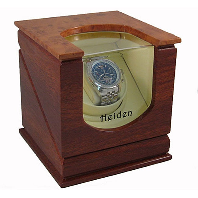 Heiden prestige single watch winder brown