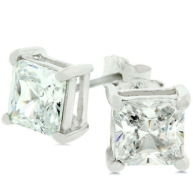 Kate Bissett 14k Gold over Sterling Silver CZ Stud Earrings