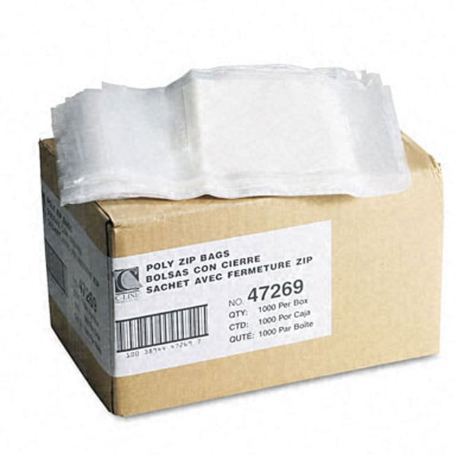 Reclosable Small Parts Clear Bags with Write-On Panels (Case of 1,000)