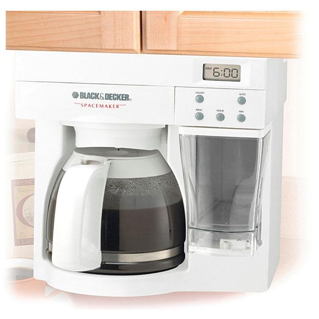 Black Amp Decker Spacemaker 12 Cup Coffee Maker Overstock