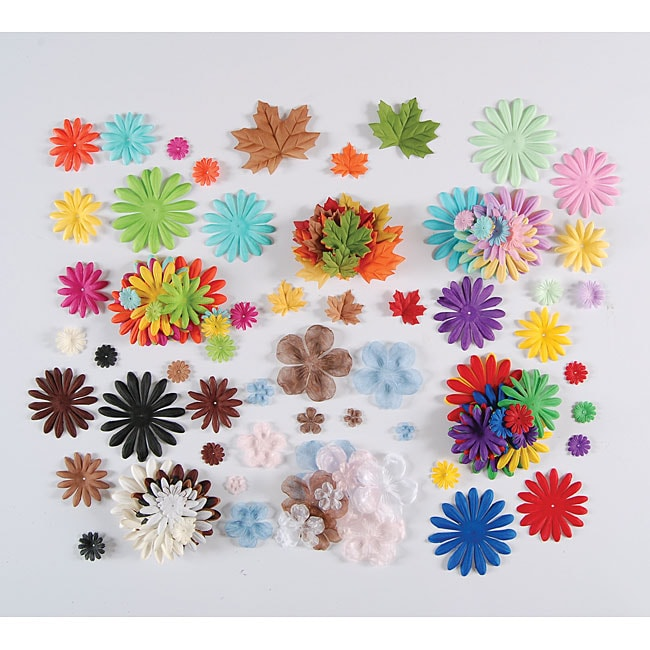 Silk Flower Embellishment Scrapbooking Kit