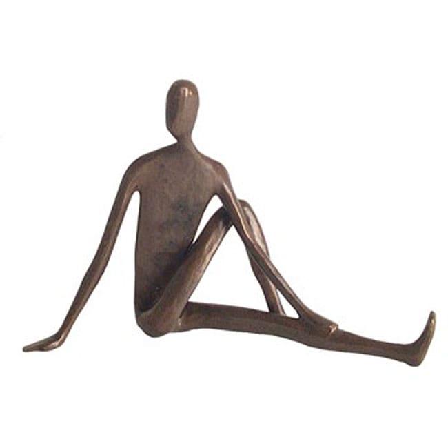 Yoga Twist Cast Bronze Sculpture