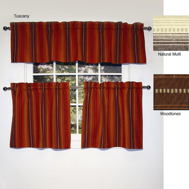 Newberry 3-piece Cafe Curtain and Valance Set