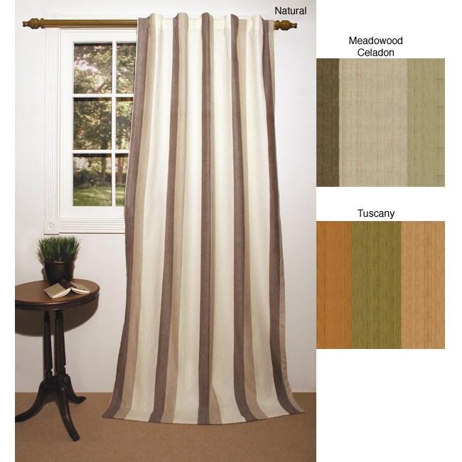 Tonal Stripe 84-inch Curtain Panel Pair