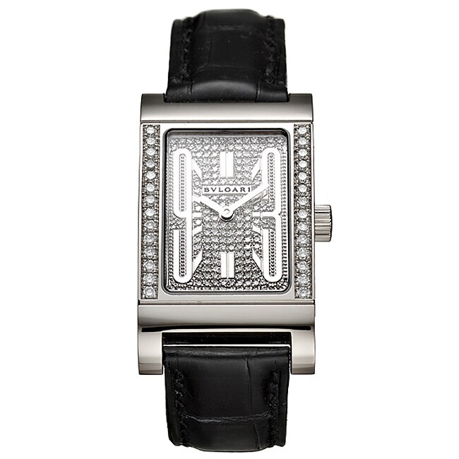 Bvlgari Rettangolo 18k Gold Women's Diamond Watch
