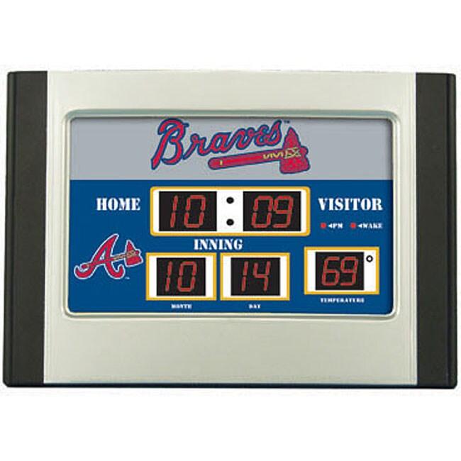 Atlanta Braves Scoreboard Desk Clock