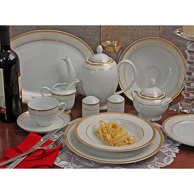 Venice 49-piece Porcelain Dinnerware Set