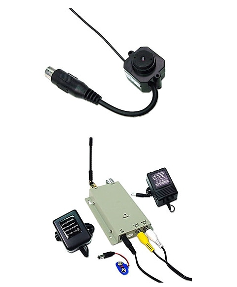 Mini Wireless Color Camera With Microphone 457766