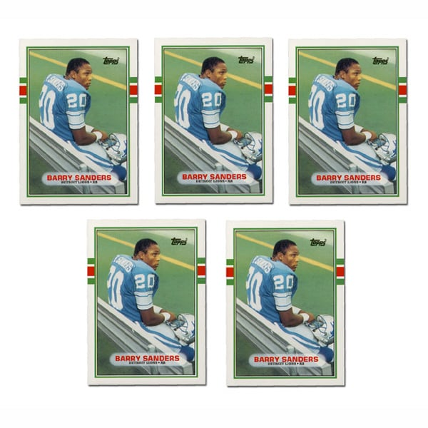 Barry Sanders 1989 Topps Traded Rookie Cards