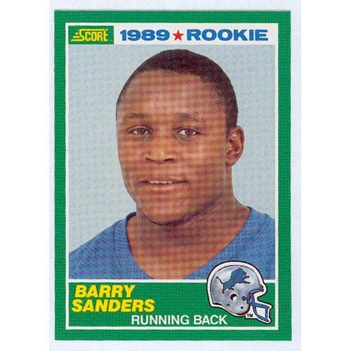 Barry Sanders 1989 Score Rookie Card