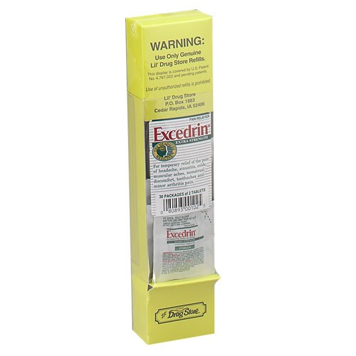 Excedrin Extra Strength Tablets, Single Dose Packets (Box of 30)