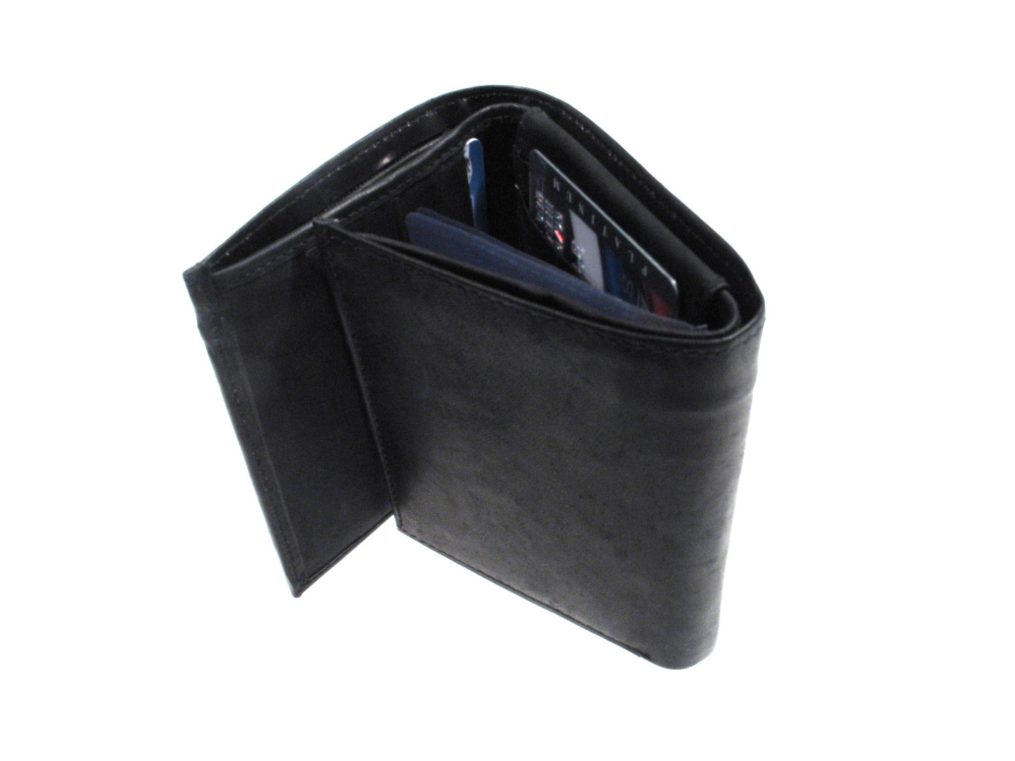 Signature Genuine Leather Tri-fold Wallet