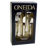 Oneida 20 Piece Satin Tribeca Pattern Flatware Set