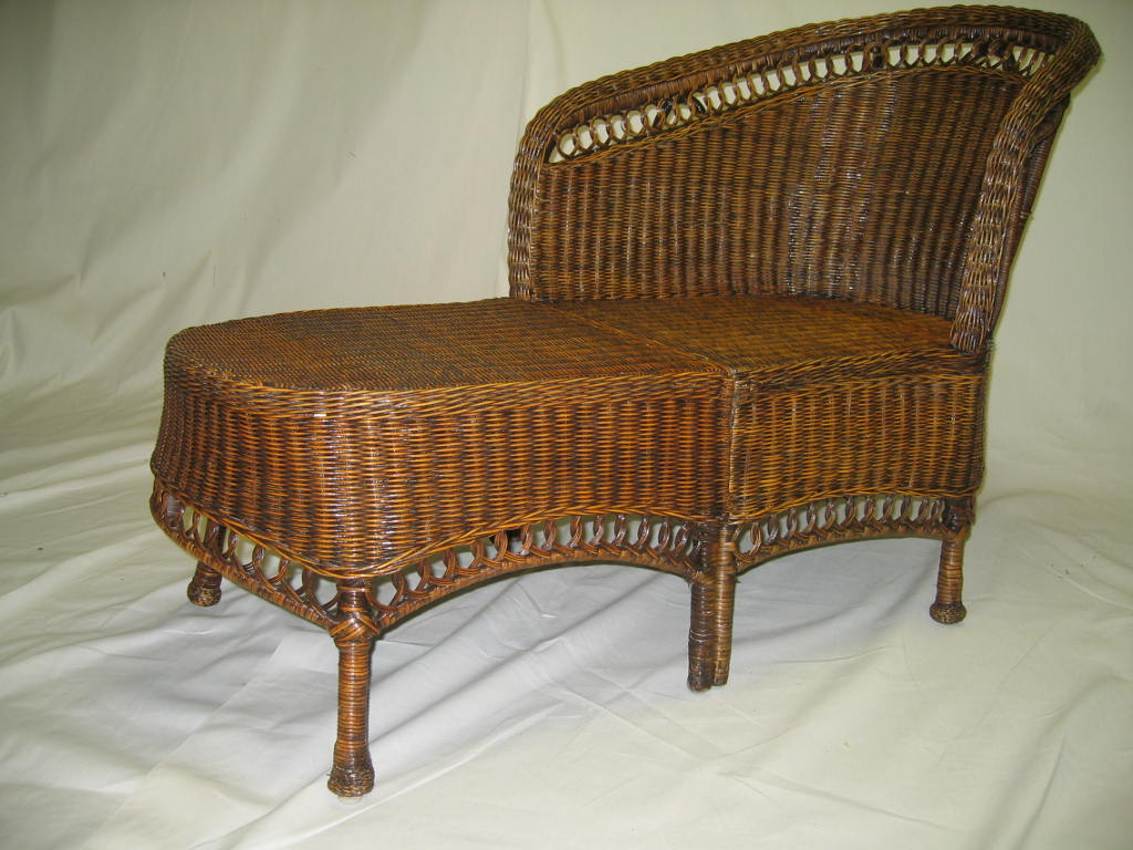 Wicker chaise lounge 10124357 shopping for Barcelona chaise lounge set