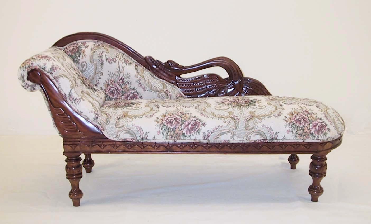 Mahogany Child's Swan Sofa
