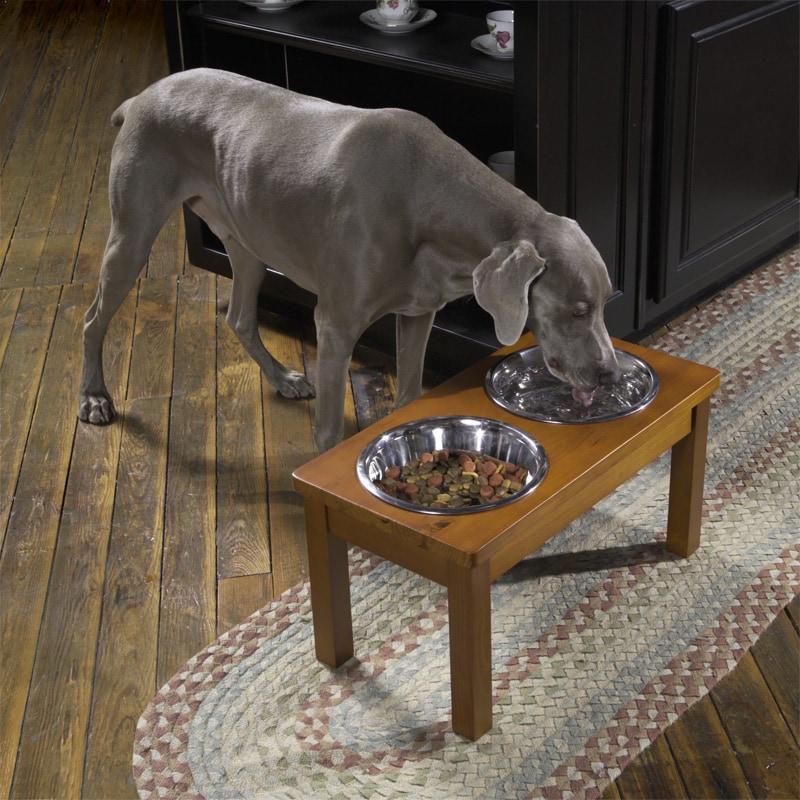 Large Pecan Albany Dog Feeding Station 10183174