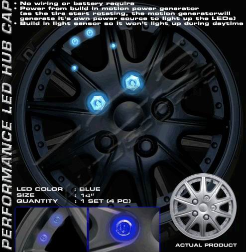 Universal Wheel Cover LED Hub-14 inch (case of 4)