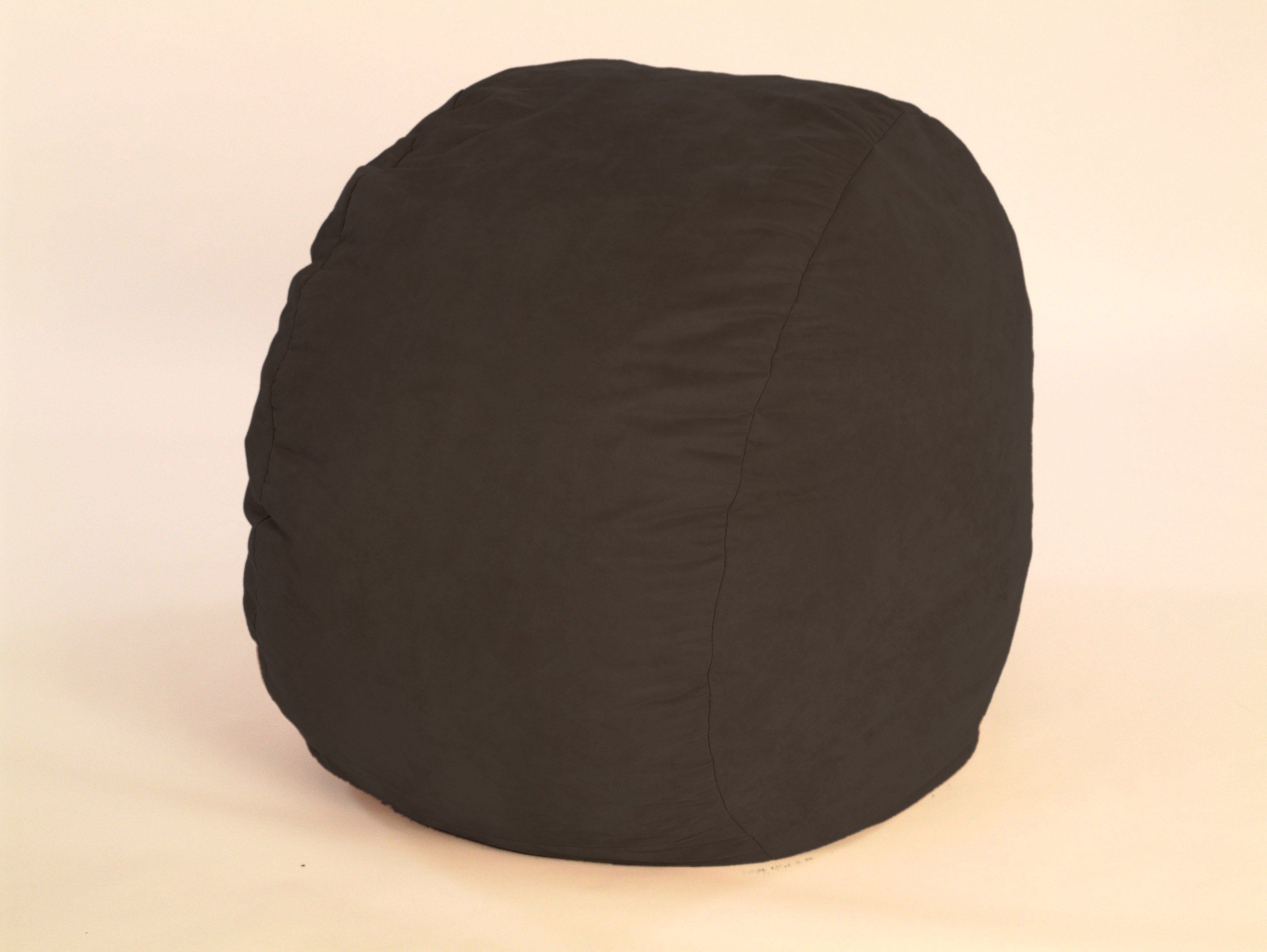 large black microfiber foof chair 10321727 overstock