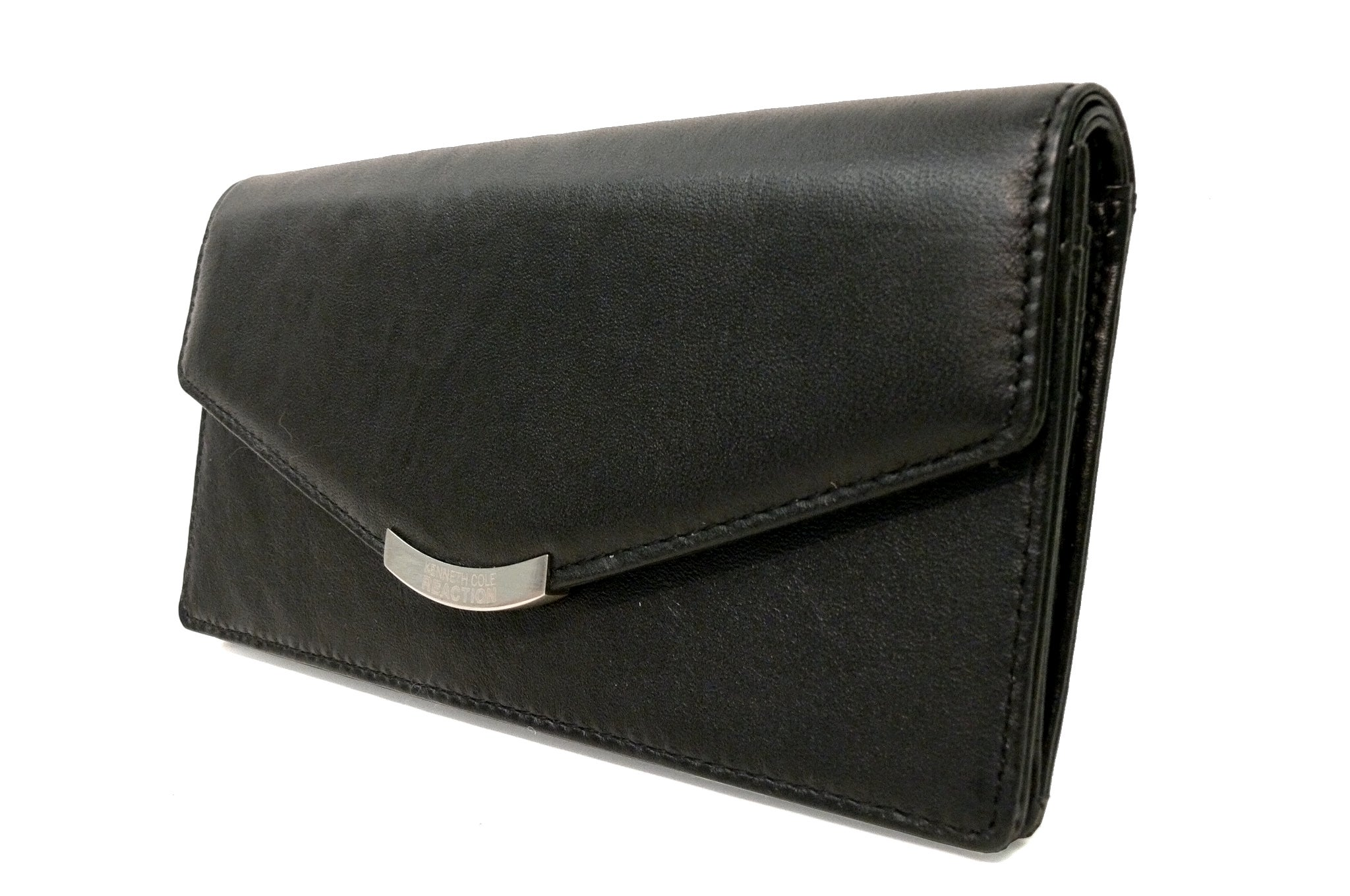 Kenneth Cole Cuff Links Leather Wallet