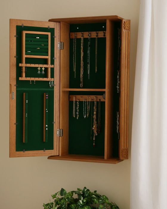 London Wall Mount Jewelry Armoire Overstock Shopping