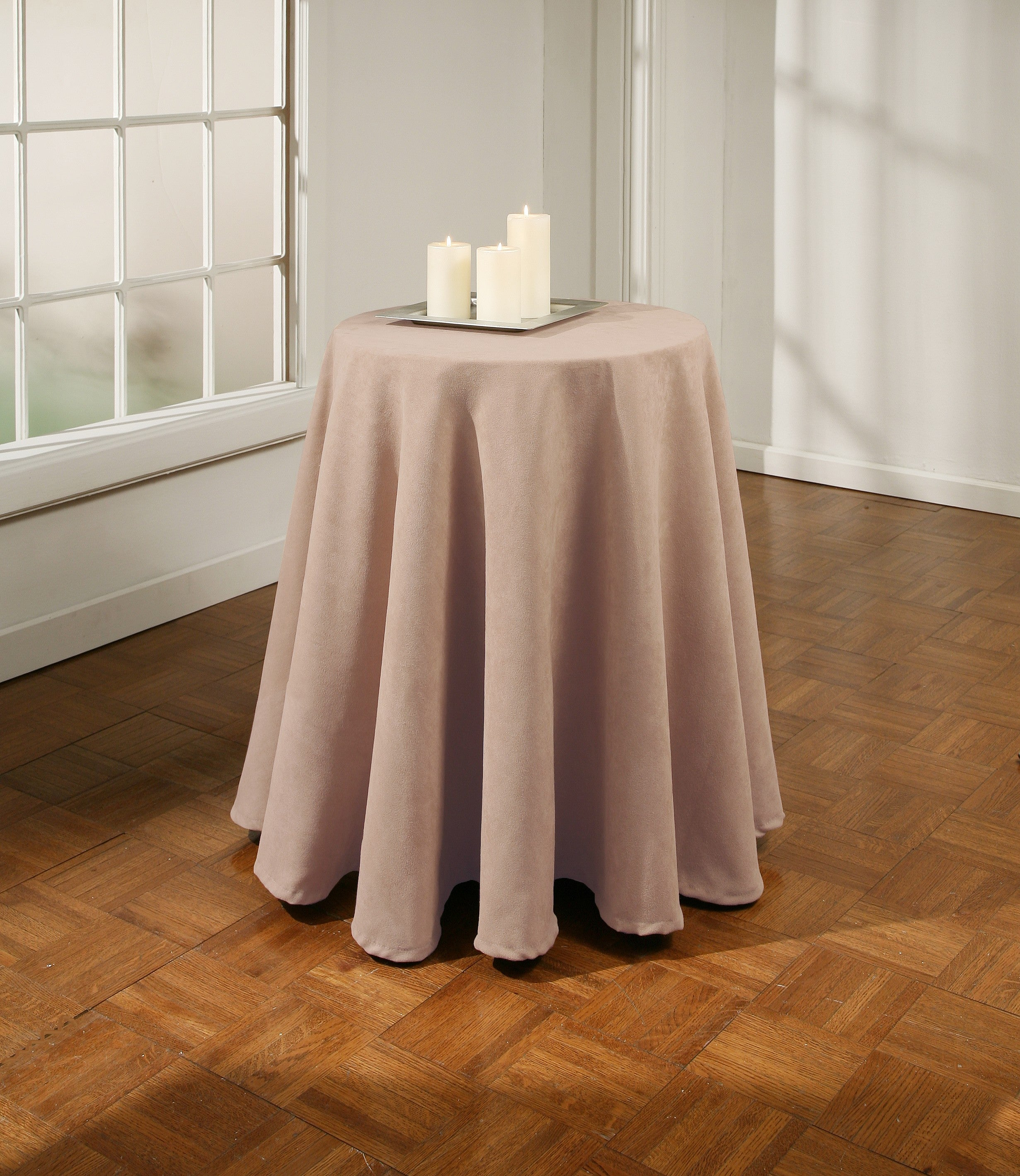 Suede 70-inch Round Tablecloth