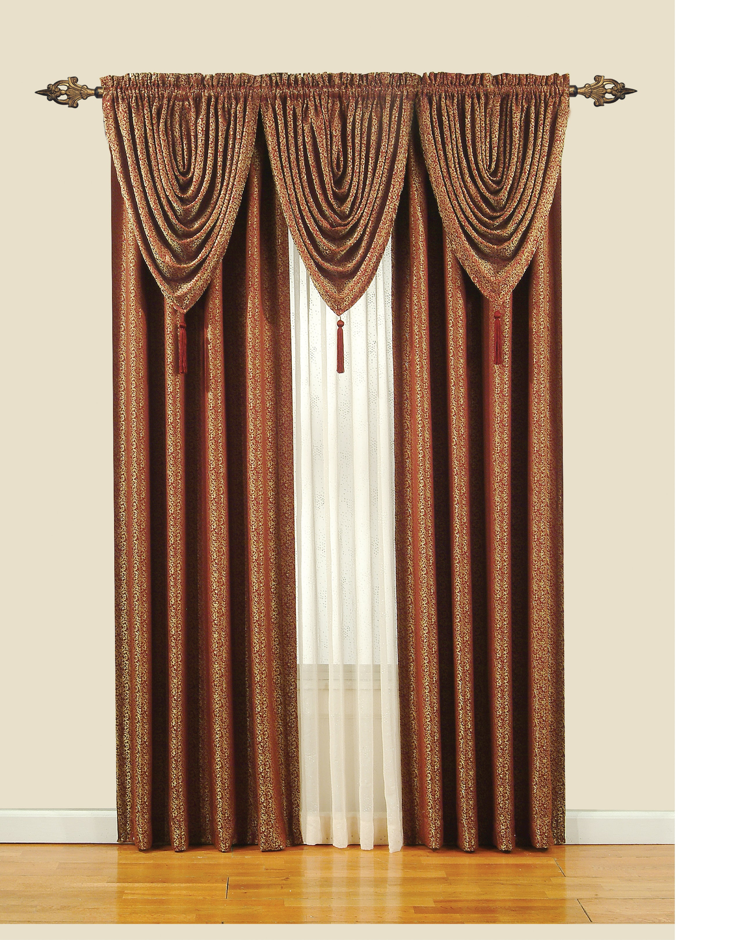 Monde Sheer 63-inch Tailored Window Curtain Panel