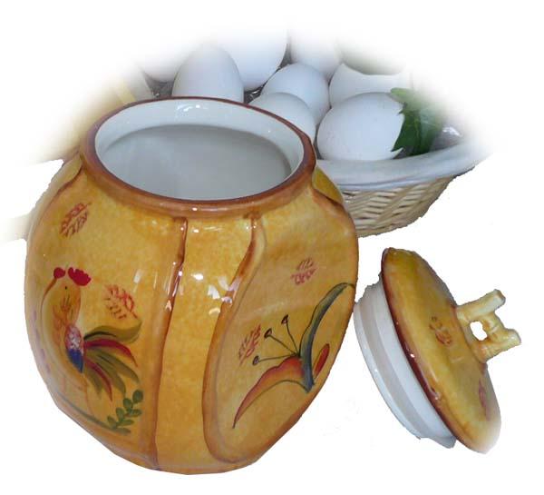 Sunshine Rooster 2-piece Spice Storage Jar with Rack