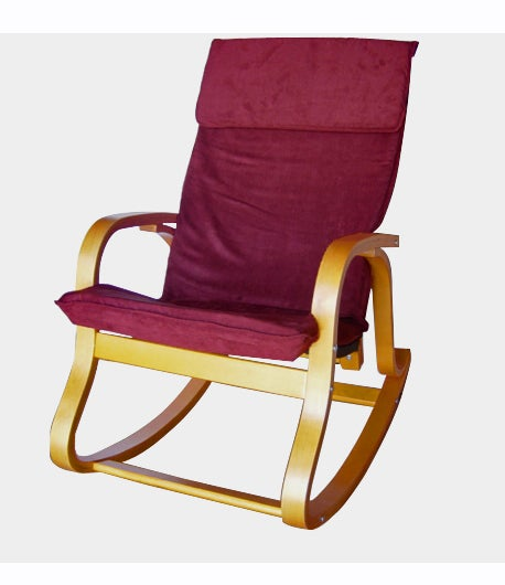 Bentwood Rocker with Padded Microsuede Seat
