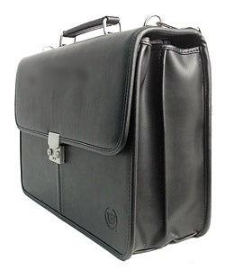 Cadillac Combination Lock Black Computer Leather Case