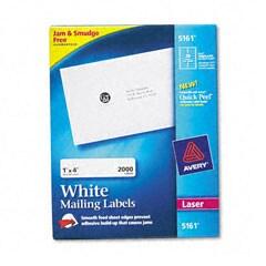 Avery 5161 White Laser Address Labels