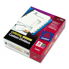 Avery Direct Print Dividers for High-Speed B/W Laser Printers - 24-Sets Pack