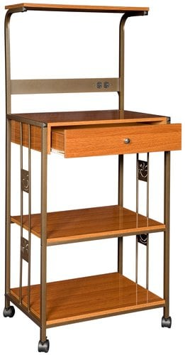 Coffee Bean Kitchen Shelf with Cherry Finish