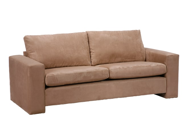 Kennedy Mocha Microfiber Tuxedo Sofa