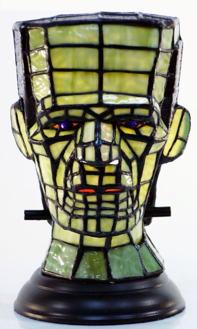 Tiffany-style Frankenstein's Monster Accent Lamp
