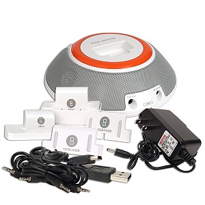 Docking Station Speakers for iPod/ MP3/ Cell Phone
