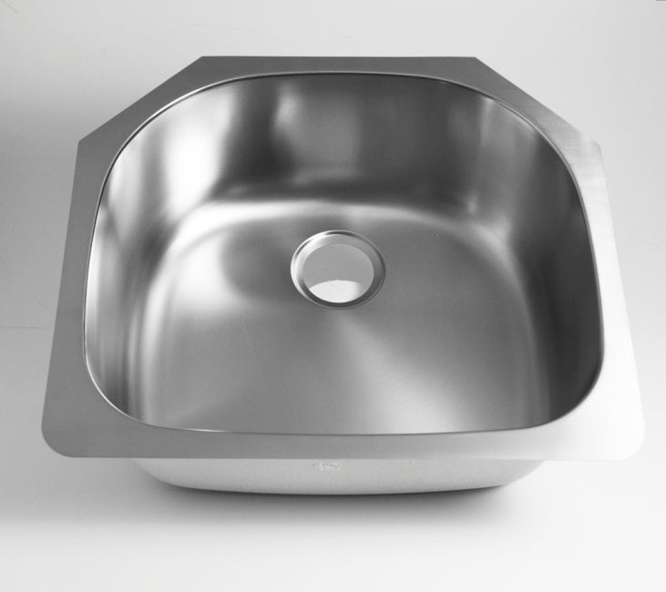 DeNovo Single Stainless Steel Undermount D-shape Sink