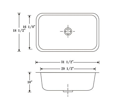 DeNovo Extra Large Single Undermount Bar Sink
