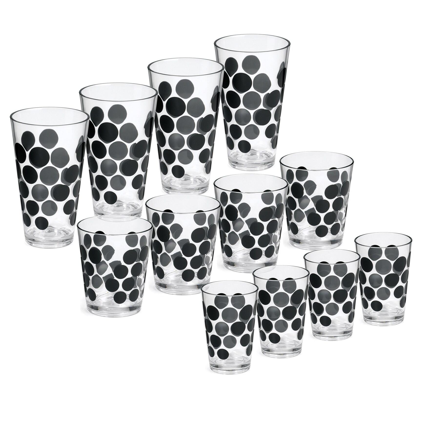 Zak! Dot Dot 13-piece Black Tumbler Set