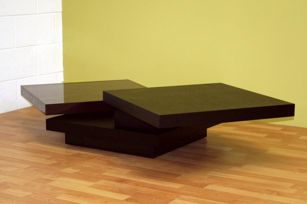 Louden Wenge Oak Veneer Adjustable Coffee Table