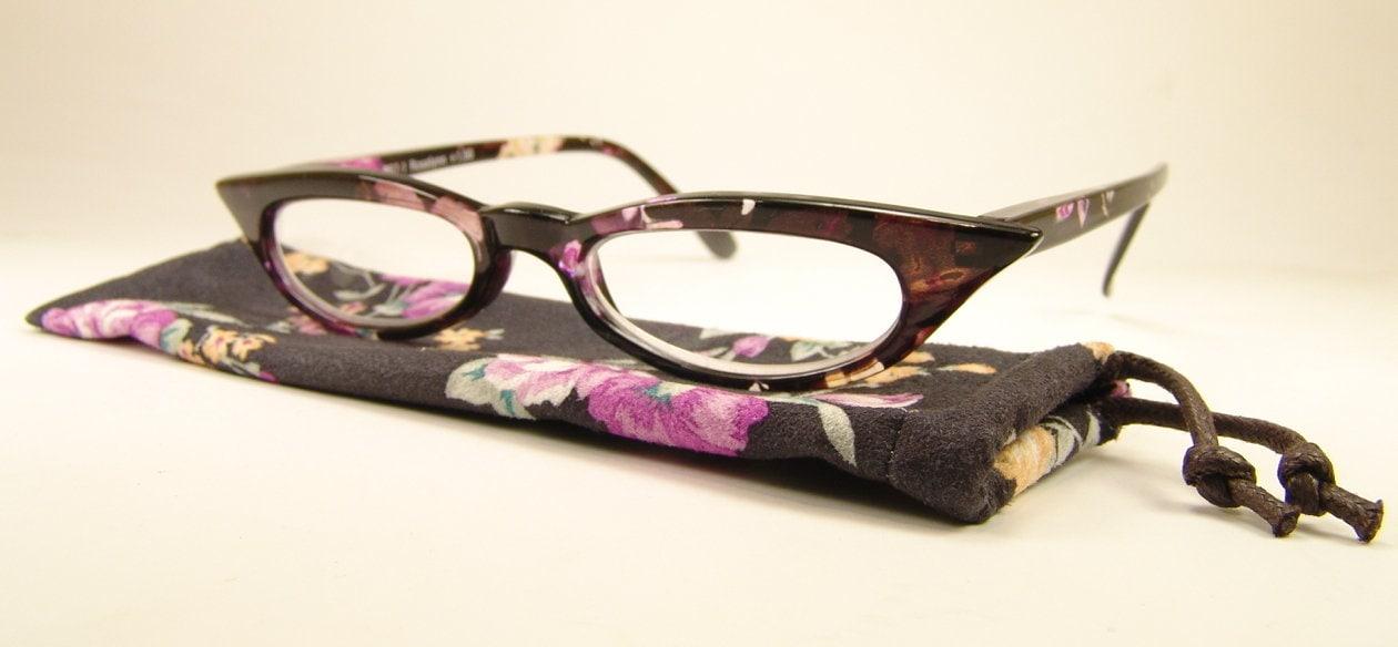 Pepper's 'Rosalynn' Flower Print Frame Reading Glasses