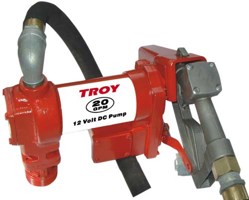 Heavy-duty 20 GPM 12-volt Fuel Transfer Pump