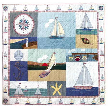 Nautical Queen Cotton Quilt