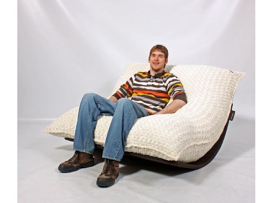 Outdoor lounger chair - Lovesac Pillowsac Eskimo White Lounge Bag Chair 11718788